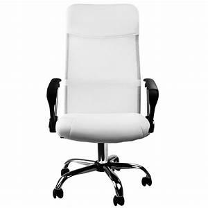 Chaise De Bureau Moderne : fauteuil chaise de bureau blanche inclinable ergonomique ~ Teatrodelosmanantiales.com Idées de Décoration