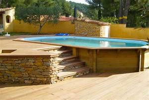 Piscine Semi Enterré Bois : piscine bois semi enterre id e int ressante pour la ~ Premium-room.com Idées de Décoration
