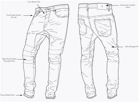 sketch mens skinny jeans coloring pages