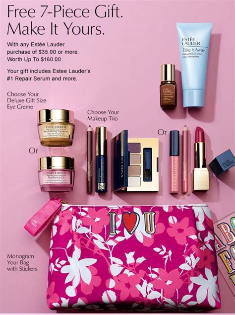 estee lauder gift  purchase offers gwp