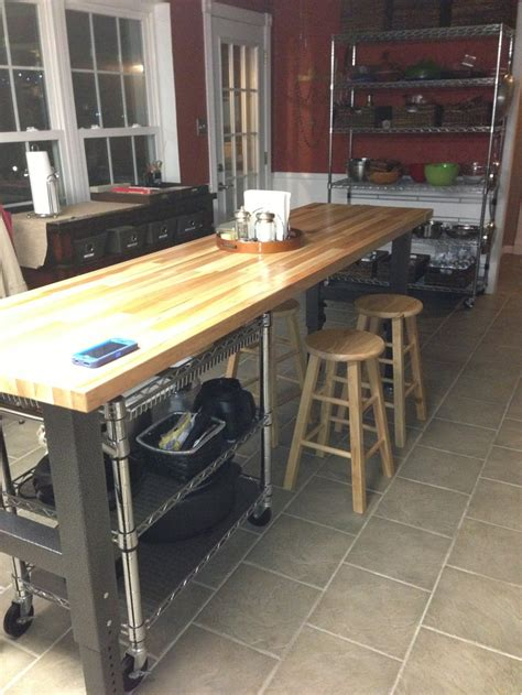 workbench kitchen gladiator workbench as kitchen island design ideas pinterest