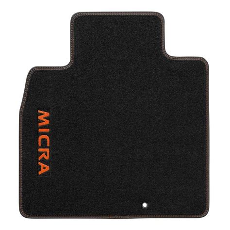 tapis de personnalise tapis de sol velours logo surpiqures orange racing nissan micra accessoires nissan