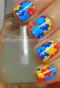 Autism Awareness Month Nails