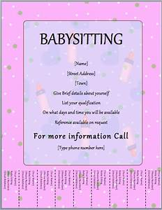 blank tear off flyer pictures to pin on pinterest pinsdaddy With babysitting poster template