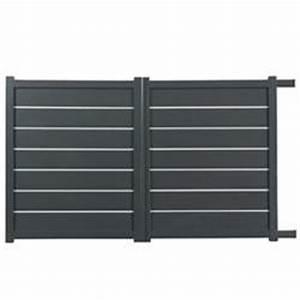 Portail 3 Metres : portail en aluminium coulissant zirconium 3 5 m tres gris ~ Premium-room.com Idées de Décoration