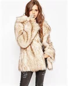 asos asos vintage faux fur coat at asos