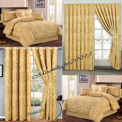 jacquard luxury 7 gold comforter set bedspread