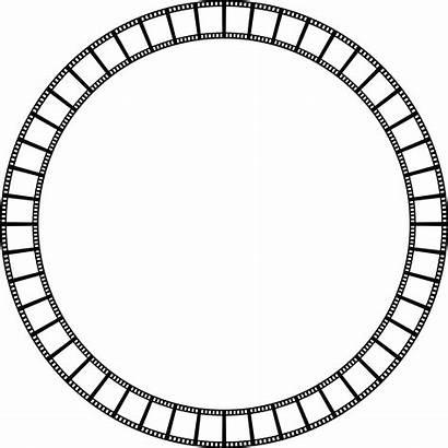 Circle Film Frame Strip Border Abstract Clipart