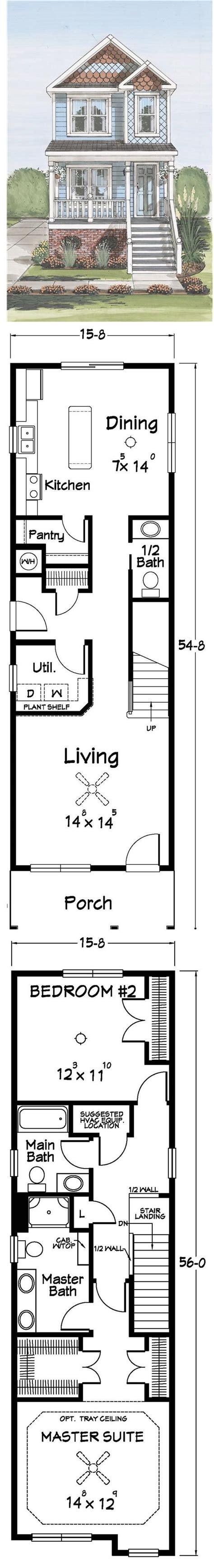 ideas  narrow lot house plans narrow house