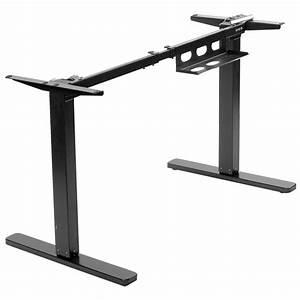 Vivo Black Electric Stand Up Desk Frame  Single Motor