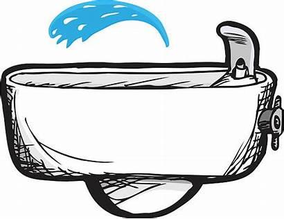 Fountain Drinking Clip Illustrations Similar