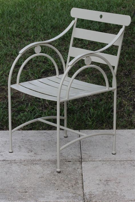 set of six designer sculptural deco garden chairs mid century at 1stdibs