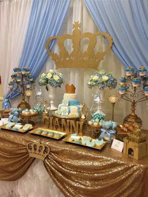 prince baby shower decorations prince baby shower party ideas baby shower parties shower party and dessert table