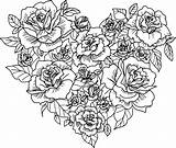 Coloring Harts Heart Hearts Adults Popular sketch template