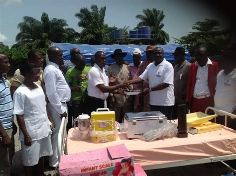 He was the commander of camp five, a collection of concrete buildings built by the constructors of a pipeline that runs to lagos. Tompolo Foundation Donates Medical Items To Ogulagha General Hospital | National Reformer News ...