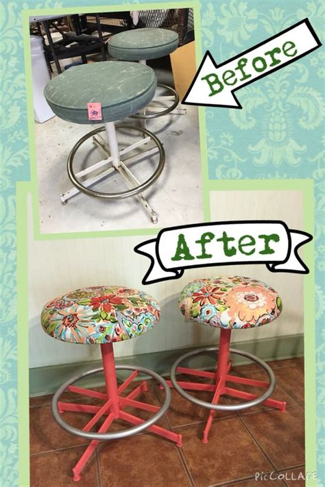 $5 Thrift Store Finds! Spray Paint And New Fabric Makes A