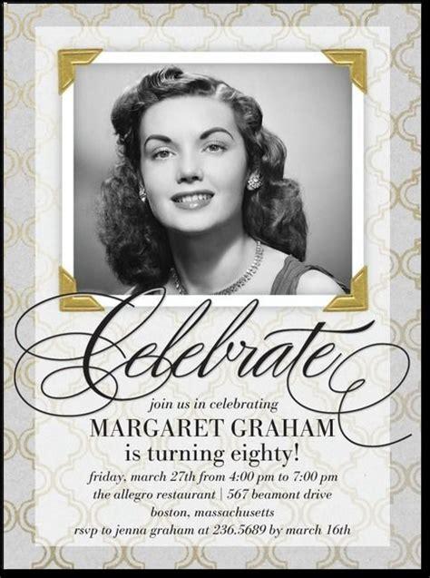 80th Birthday Invitation CARDS 80TH BIRTHDAY 80th