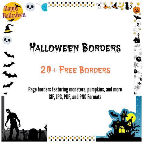 halloween border  microsoft word festival collections