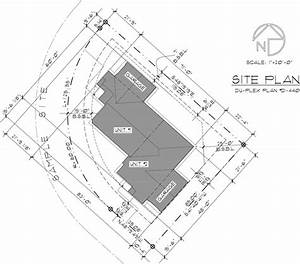 One Story Duplex House Plan For Corner Lot By Bruinier