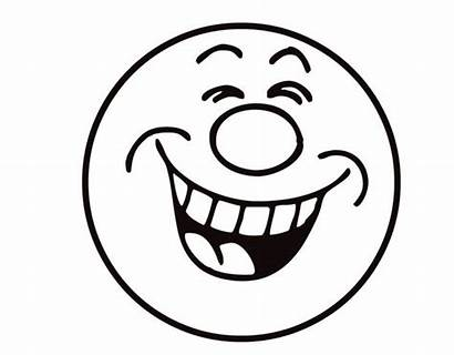 Coloring Laughing Smiley Emoji Face Laugh Pages