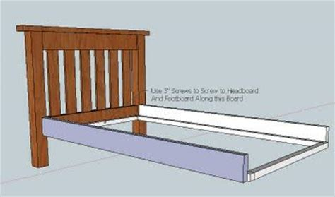 twin bed headboard and footboard plans