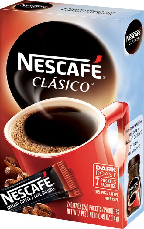 Nescafe clasico dark roast instant coffee 10.5 oz. NESCAFÉ Clásico Single Serve Packets delivers rich, bold flavor in every cup, which has made it ...
