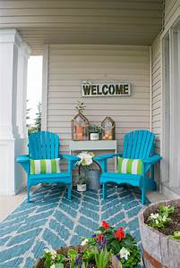 Front, Porch, Decorating, Ideas, With, The, Perfect, Adirondack, Chairs, U2022, Our, House, Now, A, Home
