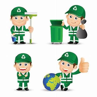 Street Vector Cleaner Sanitation Worker Illustration Profession