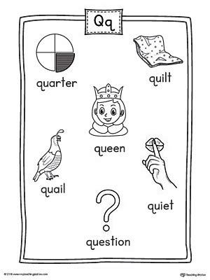 2 letter words with q letter q word list with illustrations printable poster 20034 | 4f341558ab13a5397c9fcead85a2e3c1
