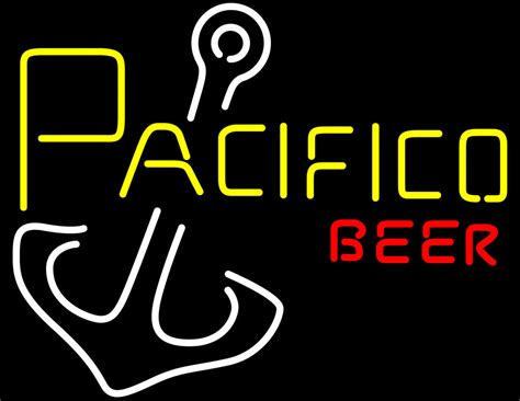 pacifico anchor beer neon sign neon