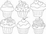 Cupcake Cupcakes Cake Muffin Clipart Kleurplaat Coloring Drawing Pastelitos Colorear Dibujo Pintar Ausmalen Template Mewarnai Printable Gambar Untuk Pintura Postres sketch template
