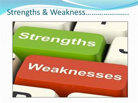 Strength And Weakness In by Strength Weakness