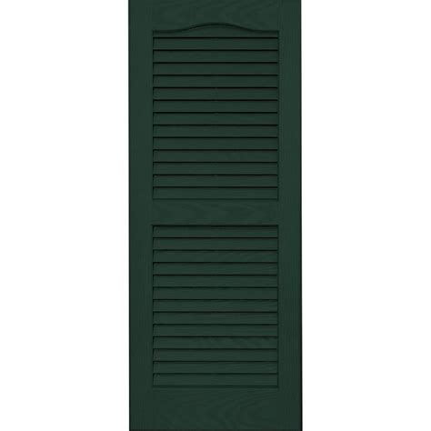 Paint Stucco Ceiling by Shop Vantage 2 Pack Midnight Green Louvered Vinyl Exterior