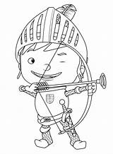Coloring Archery sketch template
