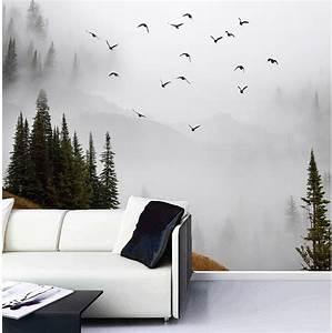 3d wallpaper custom 3d photo wallpaper Misty Mountains ...