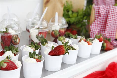strawberries cream cart corporate  private