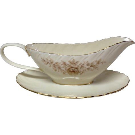Gravy Boat Lenox by Lenox Coquette G 512 China Gravy Boat And Stand From