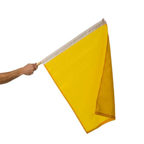bunting flag car 24in x 30in mounted yellow caution flag flags international
