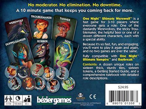 night ultimate werewolf bezier games
