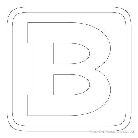 printable block letter stencil  p