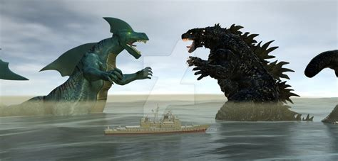 Godzilla Vs The Ancient Monster Sharka By