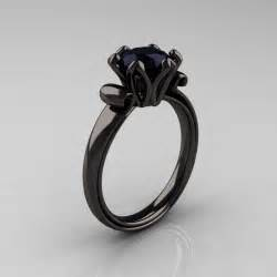 black wedding rings with diamonds vintage black engagement ring ipunya