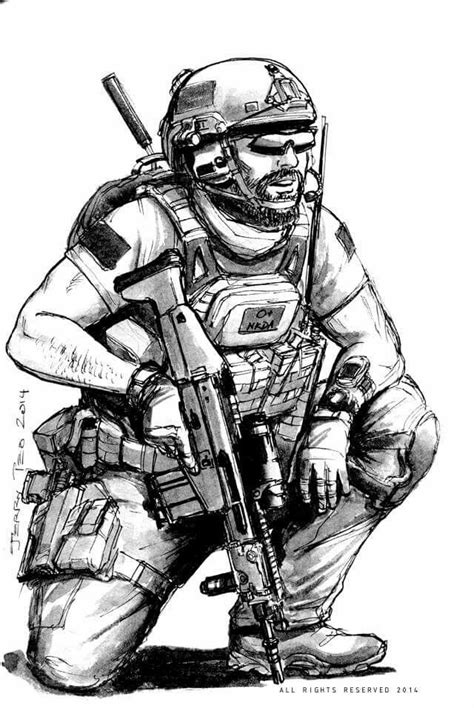 Pin by Nick Carey on Combat drawings | Military art, Military drawings, Army tattoos