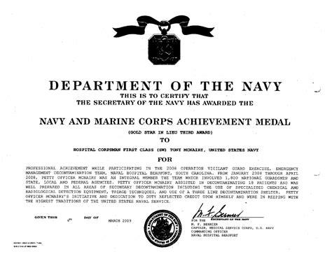 Navy Award Examples