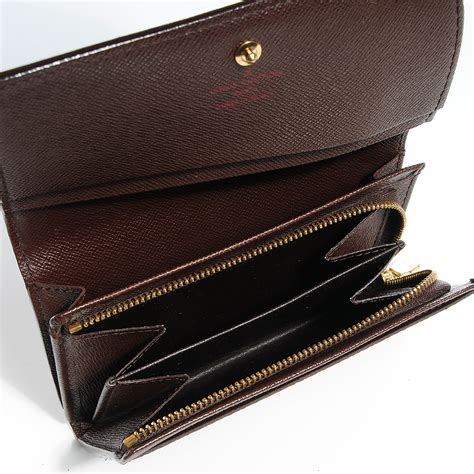 louis vuitton damier ebene porte monnaie billets tresor wallet 80996