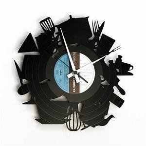 Orologio da cucina con utensili raffigurati kitchen for Orologio da cucina
