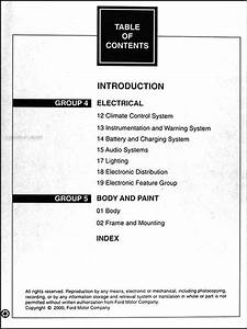 2000 Ford Taurus  U0026 Mercury Sable Repair Shop Manual 2