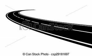 EPS Vectors of Perspective of curved road - Vector ...