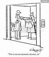 Elevator Automatic Elevators Cartoon Cartoons Funny Lift Comics Hotel Cartoonstock Control Illustration sketch template