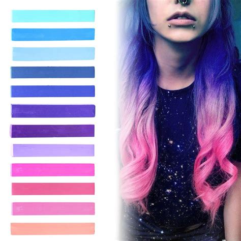 Amazoncom Pink To Blue Ombre Hair Dye Set Of 12